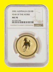 Click now to see the BUY IT NOW Price! 2002 CHINESE LUNAR YEAR OF THE HORSE NGC MS 70 AUSTRALIA 1 OZ 9999 GOLD SUPERB