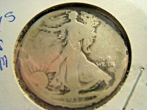 1917S  WALKING LIBERTY HALF DOLLAR         SK50 4
