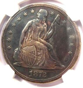 1872 S SEATED LIBERTY SILVER DOLLAR $1 COIN   NGC XF DETAILS  EF     S MINT
