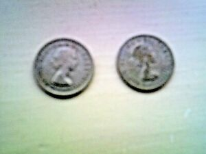 1955  & 1964 QUEEN ELIZABETH II  SIXPENCE  TWO SIXPENCES INCLUDED