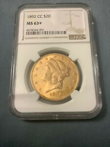 Click now to see the BUY IT NOW Price! 1892 CC LIBERTY DOUBLE EAGLE MS63  ONE OF TWO & ONLY ONE COIN GRADED HIGHER