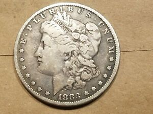 Click now to see the BUY IT NOW Price! 1883 MORGAN SILVER DOLLAR LIBERTY HEAD $1 COIN AMERICAN EAGLE FINE VF