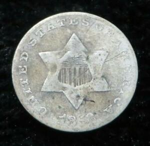 1853 THREE CENT PIECE SILVER   75  SILVER   GREAT OLD COIN