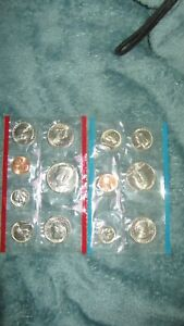 1980 US UNCIRCULATED MINT SET P D S 13 COINS   ERROR REVERSED SB ANTHONY