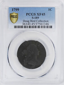 Click now to see the BUY IT NOW Price! 1799 DRAPED BUST 1C PCGS XF 45 BN