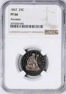 Click now to see the BUY IT NOW Price! 1847 LIBERTY SEATED 25C NGC PR 66