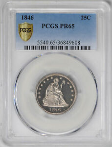 Click now to see the BUY IT NOW Price! 1846 LIBERTY SEATED 25C PCGS PR 65