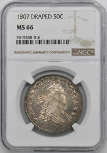 Click now to see the BUY IT NOW Price! 1807 DRAPED BUST 50C NGC MS 66