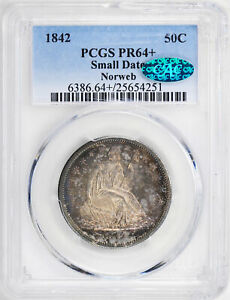 Click now to see the BUY IT NOW Price! 1842 LIBERTY SEATED 50C PCGS PR 64