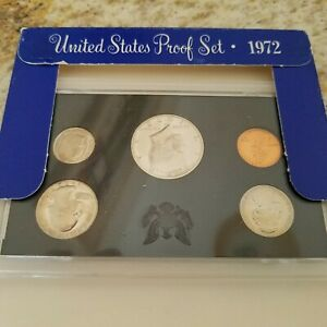 1972 S PROOF SET UNITED STATES US MINT ORIGINAL GOVERNMENT PACKAGING BOX