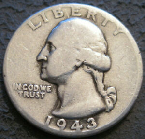 AS SHOWN   1943 P WASHINGTON QUARTER // 90  SILVER // MC 727