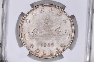 1935 CANADIAN SILVER DOLLAR NGC MS 65