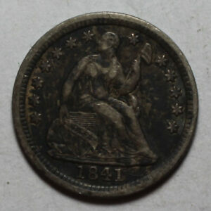1841 SEATED HALF DIME WR555