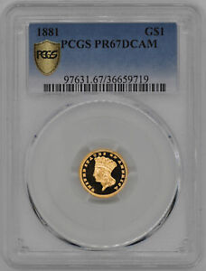 Click now to see the BUY IT NOW Price! 1881 GOLD G$1 PCGS PR 67 DCAM