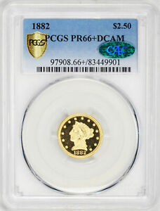 Click now to see the BUY IT NOW Price! 1882 LIBERTY HEAD $2.5 PCGS PR 66  DCAM