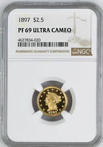 Click now to see the BUY IT NOW Price! 1897 LIBERTY HEAD $2.5 NGC PR 69 DCAM