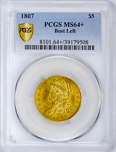 1807 CAPPED BUST $5 PCGS MS 64