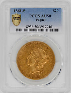 Click now to see the BUY IT NOW Price! 1861 S LIBERTY HEAD $20 PCGS AU 50
