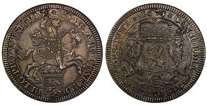 Click now to see the BUY IT NOW Price! NETHERLANDS. WEST FRIESLAND. 1673  CINQUEFOIL  AR DUCATON. NGC XF45 DAV. 4941