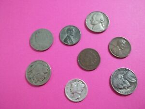 GREAT STARTER SET  LOT OF 9 COINS WITH SILVER COINS   SS19