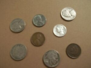 GREAT STARTER SET  LOT OF 9 COINS WITH SILVER COINS   SS20