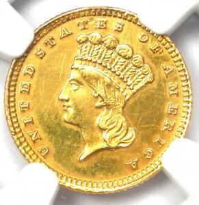 1884 INDIAN GOLD DOLLAR  G$1 COIN    CERTIFIED NGC AU DETAILS    DATE