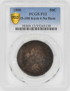 Click now to see the BUY IT NOW Price! 1806 DRAPED BUST 50C PCGS F 12