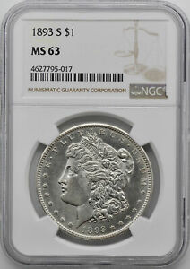 Click now to see the BUY IT NOW Price! 1893 S MORGAN S$1 NGC MS 63