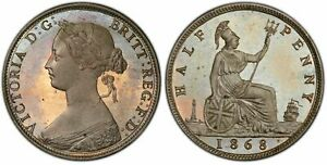Click now to see the BUY IT NOW Price! GREAT BRITAIN. VICTORIA 1868 COPPER NICKEL PATTERN HALFPENNY. PCGS PR65 CAMEO