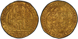 Click now to see the BUY IT NOW Price! BELGIUM. FLANDERS BRUGES. LOUIS II DE MALE  1346 84  AV FRANC D'OR. PCGS MS64