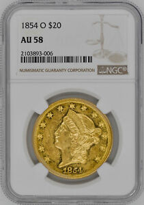 Click now to see the BUY IT NOW Price! 1854 O LIBERTY HEAD $20 NGC AU 58