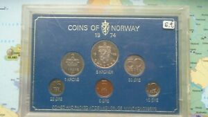 COINSET NORWAY 1974