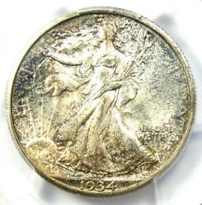 Click now to see the BUY IT NOW Price! 1934 S WALKING LIBERTY HALF DOLLAR 50C   PCGS MS66  PLUS GRADE   $5 250 VALUE