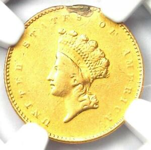 1856 S INDIAN GOLD DOLLAR  G$1 COIN    CERTIFIED NGC AU DETAIL