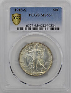 Click now to see the BUY IT NOW Price! 1918 S WALKING LIBERTY 50C PCGS MS 65