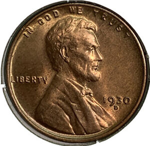 1930 D LINCOLN WHEAT PENNY 1 CENT US COIN SI35