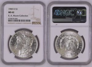 1900 O $1 MORGAN SILVER DOLLAR NGC MS 62 NEW HOLDER CONSERVED BY NCS