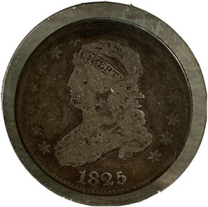 1825 SILVER CAPPED BUST QUARTER 25 CENT US COIN SI119