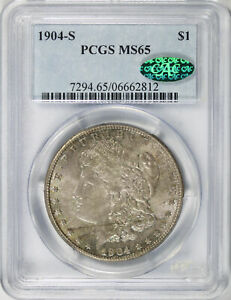 Click now to see the BUY IT NOW Price! 1904 S $1 MORGAN DOLLAR PCGS CAC MS65