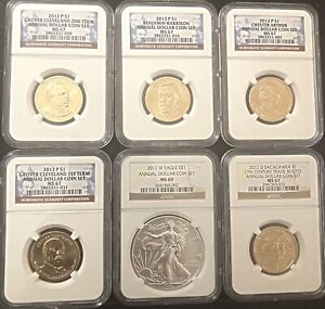 Click now to see the BUY IT NOW Price! 2012 ANNUAL DOLLAR COIN SET 6 COINS AS PICTURED    AWESOME SET