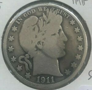 Click now to see the BUY IT NOW Price! 1911 S BARBER HALF DOLLAR 50 CENTS