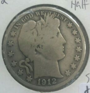 Click now to see the BUY IT NOW Price! 1912 S BARBER HALF DOLLAR 50 CENTS