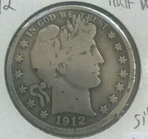Click now to see the BUY IT NOW Price! 1912 BARBER HALF DOLLAR 50 CENTS