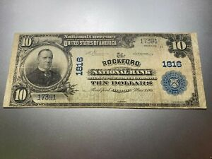 ROCKFORD ILLINOIS 1902 NATIONAL NOTE. CHARTER 1816.