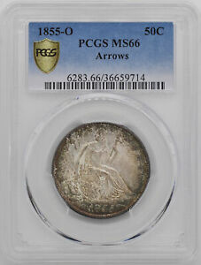Click now to see the BUY IT NOW Price! 1855 O LIBERTY SEATED 50C PCGS MS 66