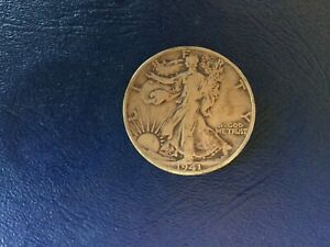 STRONG FEATHER DETAILS   1941 S WALKING LIBERTY HALF DOLLAR