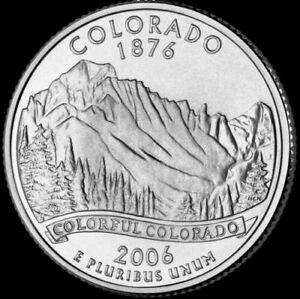 2006 P COLORADO STATE QUARTER NEW U.S. MINT