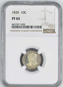 Click now to see the BUY IT NOW Price! 1835 CAPPED BUST 10C NGC PR 65