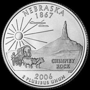 2006 P NEBRASKA STATE QUARTER NEW U.S. MINT