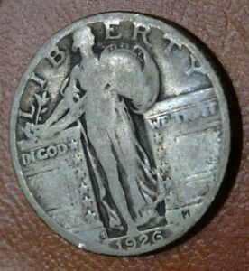 1926 S STANDING LIBERTY QUARTER COIN OLD SAN FRANCISCO MINT 90  SILVER 25C